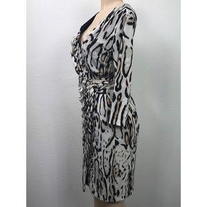 Carmen Marc Valvo Dresses - Carmen Marc Valvo animal print lined dress Sz 8